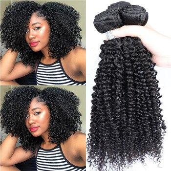 Perwersyjne kręcone włosy wyplata wiązki malezyjskie włosy typu Remy 3C wiązki czarnych ludzkich włosów z zamknięciem rozszerzenia Dolago produkty do włosów