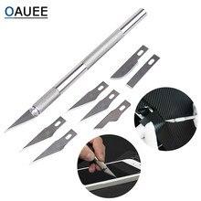 6 sztuk ostrza Craft Artwork nóż do cięcia DIY nóż do rzeźbienia wzornik punktacji Hobby dłutowanie modelu naprawy nóż rzeźbiarski