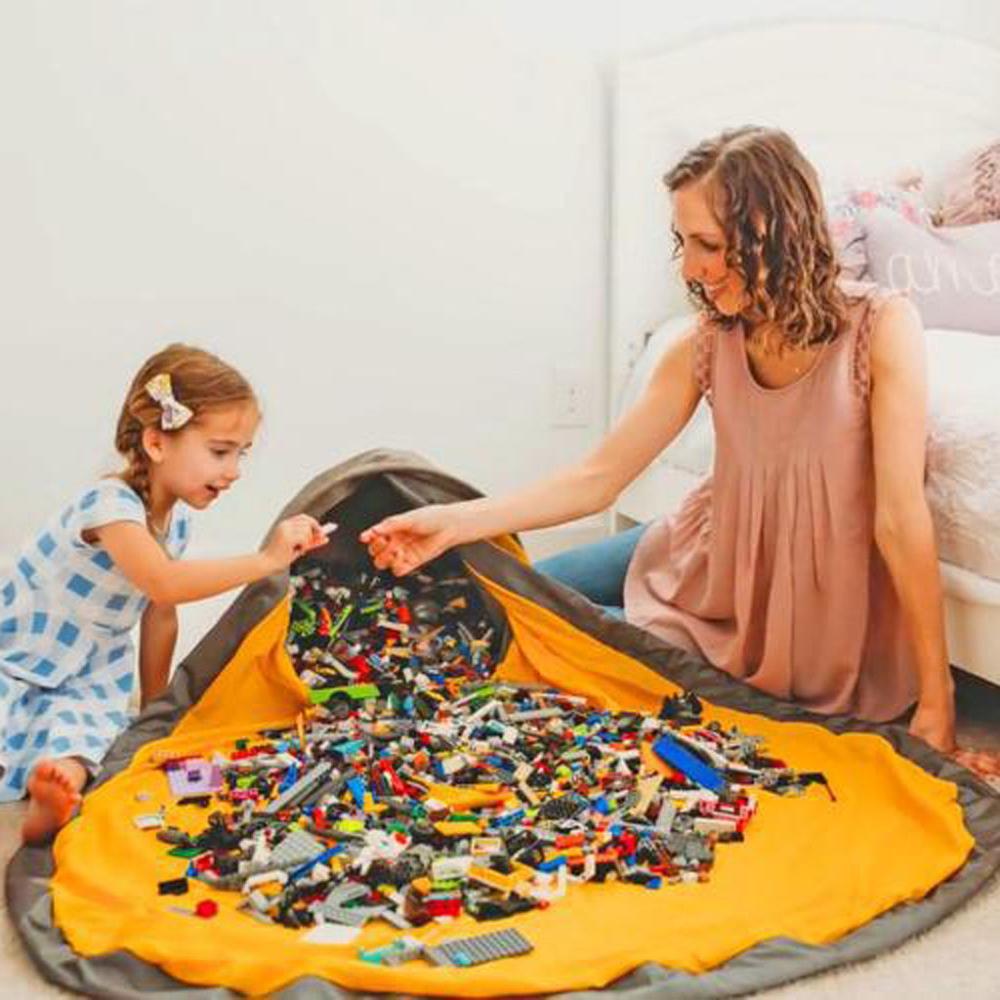 Портативная сумка для хранения детских игрушек, детский игровой коврик, Lego, игрушки, органайзер, держатель, корзина, ковер, коробка, коврик