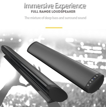 20W Wireless Bluetooth 5.0 Soundbar Bass Stereo Speaker Powerful TV Home Theater Sound Bar with Remote Control Home Music Center