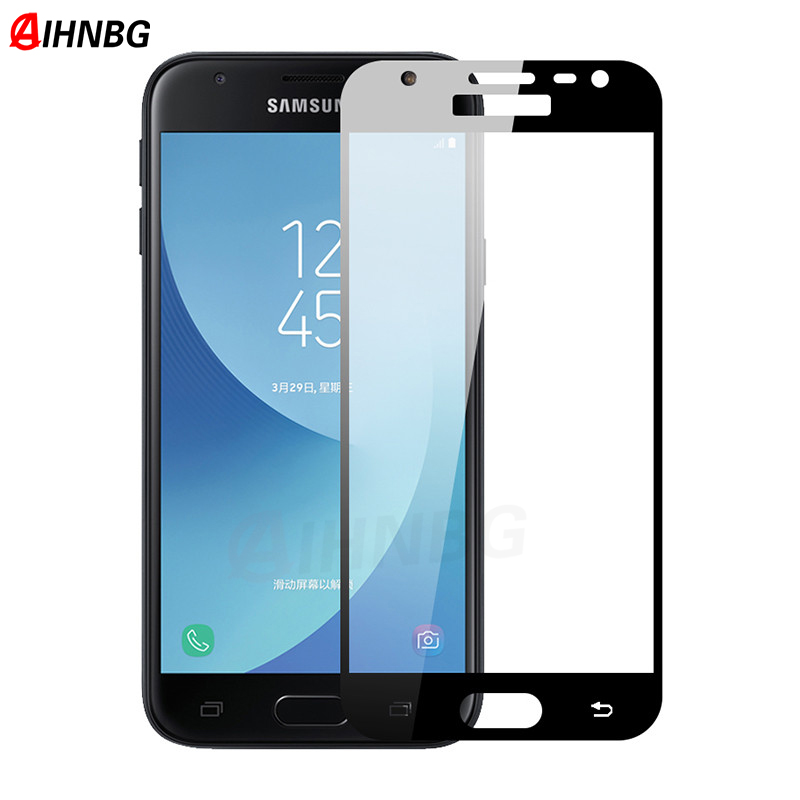 Tempered <font><b>Glass</b></font> For <font><b>Samsung</b></font> <font><b>Galaxy</b></font> J3 J5 J7 2017 A3 <font><b>A5</b></font> A7 2017 <font><b>2016</b></font> S6 S7 Screen Protector Case <font><b>Full</b></font> <font><b>Cover</b></font> Protective image