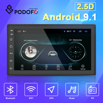 Podofo 2 Din Android 9.1 Car Multimedia Video Player 2din 7