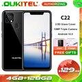 OUKITEL C22 5,86 ''4 Гб 128 Android 10,0 смартфон 2.5D Стекло крышка 13MP тройной Камера 4 ядра, 4G, мобильный телефон