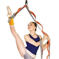 Эластичный пояс для йоги с петлями, висячие двери, тренировочный канат для занятий йогой, носилки для ног, ремешок для танцев, Раздельный спо...