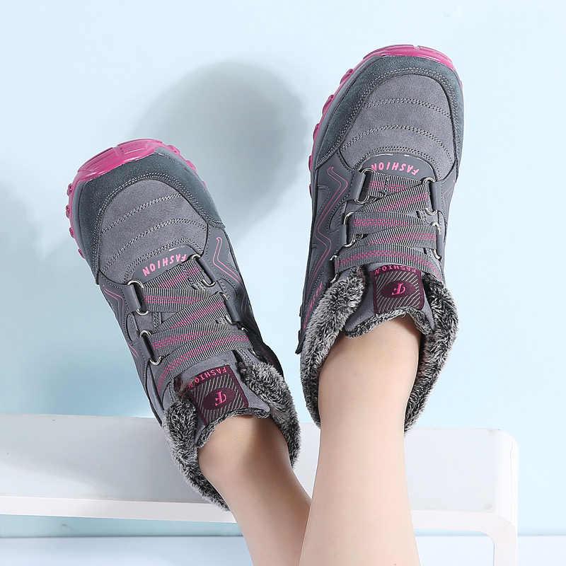 2019 donne di Inverno stivali da neve delle donne caldo push caviglia stivali femminili di alta cuneo stivali impermeabili stivali di gomma stivali da trekking scarpe 6139