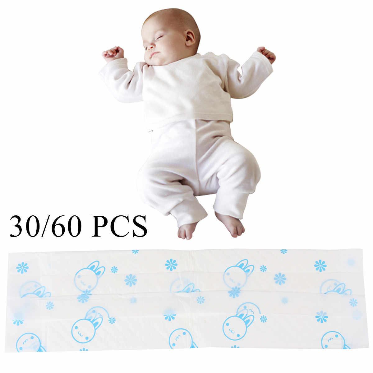 30/60 個使い捨てアンダーパッド新生児ベッド保護吸収パッド通気性防水おむつパッド