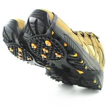 цена на Outdoor 5-Toothed Anti-slip Crampons 5 Nail Crampons Non-slip Shoe Cover Anti-slip Shoe Chain Old Man Commuting Non-slip Shoe Co