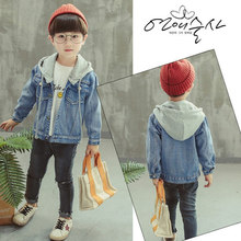 Baby Boys Denim Jacket 2019 Autumn Hoodies Jackets For Coat Kids Outerwear Coats Clothes Children 2-7 Year