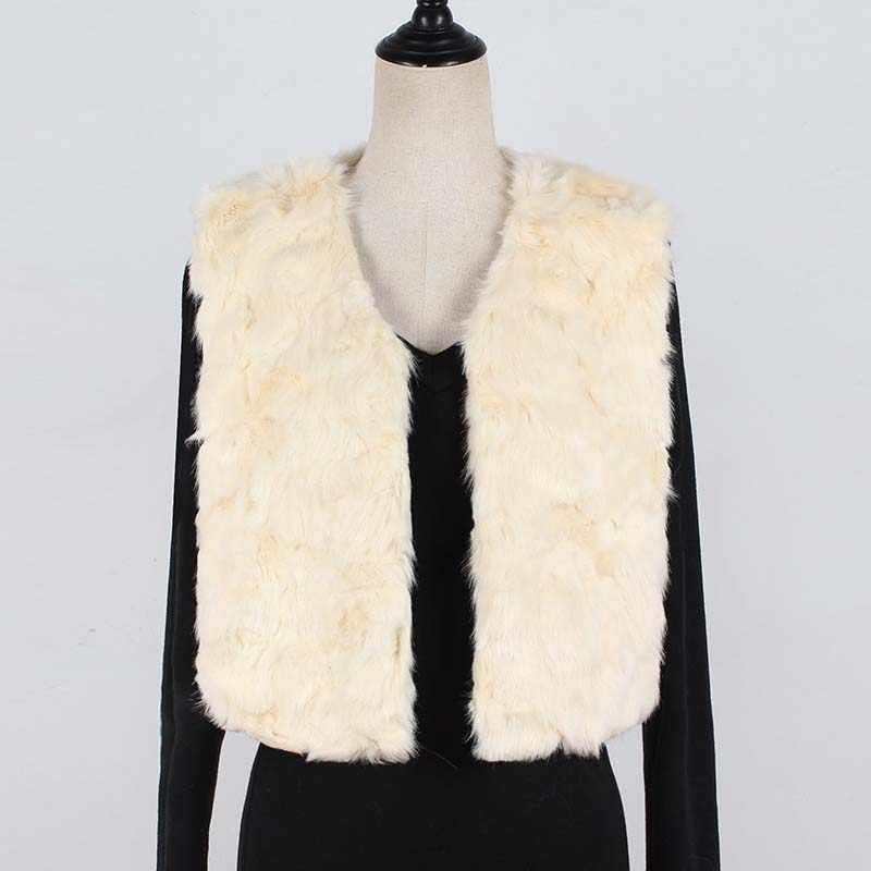 Chaleco de piel sintética de otoño para mujer abrigos de piel cálidos de invierno sin mangas de Color sólido abrigos de Mujer elegantes chalecos calientes peludos