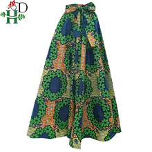Ilkbahar sonbahar kış afrika kadın eteği kadınlar için uzun etekler dashiki baskı bazin riche africanclothing robe femme artı boyutu