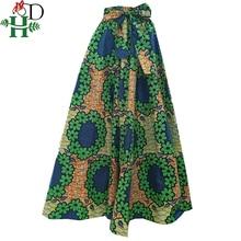 Lente herfst winter afrikaanse dame rok voor vrouwen lange rokken dashiki print bazin riche africanclothing gewaad femme Plus Size