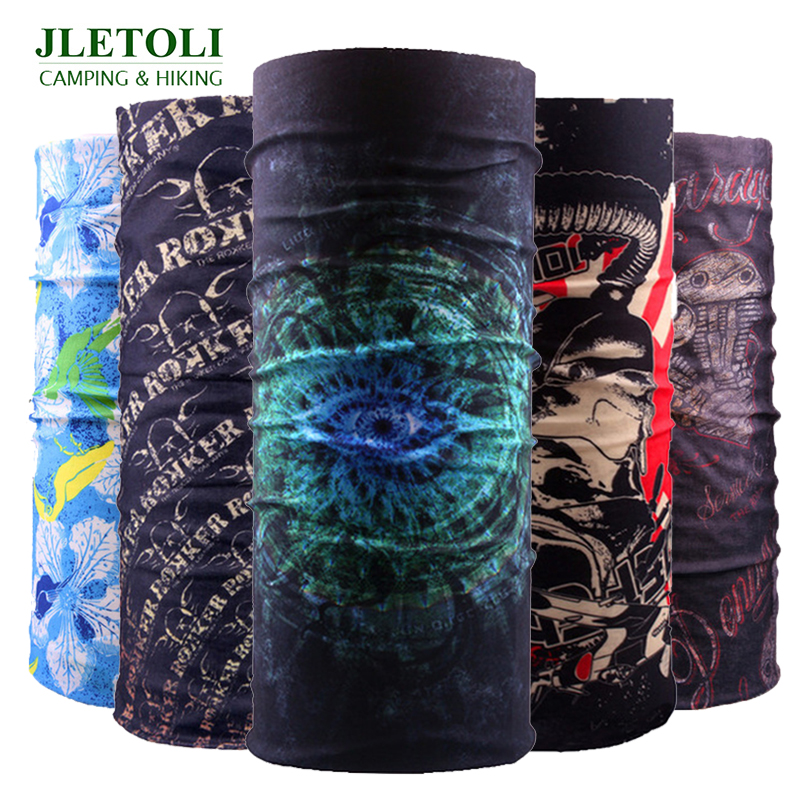 JLETOLI Windproof Hiking Scarf UV Protection Face Mask Outdoor Sport Bandana Headwear Climbing Breathable Pirate Hat Neck Warmer