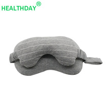 Orthopedics Travel Neck Pillow Eye Mask Two-in-one Home Train Airplane Fashion Portable Head Support