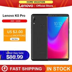 Oryginalna wersja globalna Lenovo K5 Pro 4GB RAM 64GB Snapdragon 636 octa core cztery kamery 5.99 cala 4G smartphone lte|Telefony Komórkowe|Telefony komórkowe i telekomunikacja -