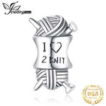 JewelryPalace Love Knit 925 Sterling Silver Beads Charms Silver 925 Original For Bracelet Silver 925 original For Jewelry Making