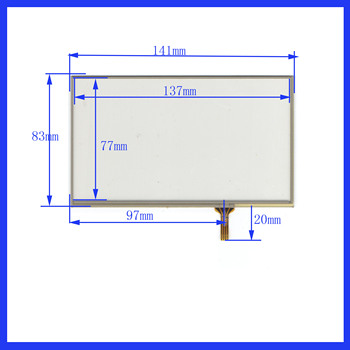 ZhiYuSun  10PCS/LOT  BB298  141mm*83 mm 6inch 4lines Touch Screen glass  resistive USB touch panel 141*83 this is compatible
