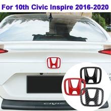 Emblem-Sticker Steering-Wheel 10th Civic Honda Trunk-Accessories Front-Grille-Logo Car