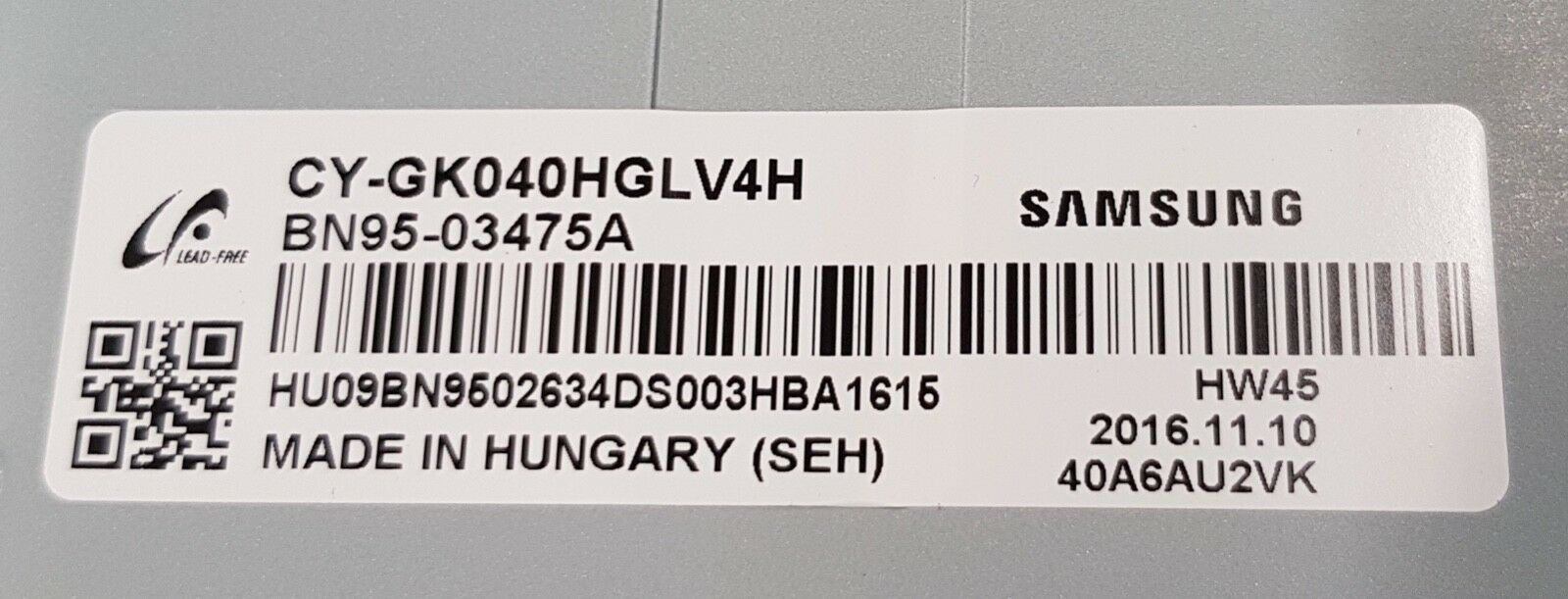 Image 5 - 10 części/partia BN96 34791A BN96 34792A telewizor LED z dostępem do kanałów SAMSUNG UE40KU6100 UE40JU6400 UE40MU6105 100% nowyPodstawy lamp   -