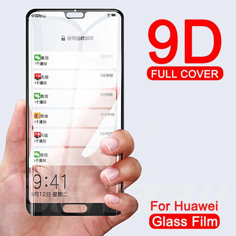 9D Glass For Huawei P20 Pro Lite Plus Screen Protector Tempered Glass For Huawei Nova 5 5i 4 4E 3 3E 3i P Smart Protective Film