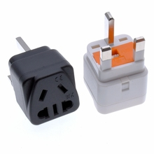 Singapore Malaysia Travel Plug Adapter With 13A Fuse,Convert US/AU/China Outlet Socket To UK HongKong SG MY Power Converter
