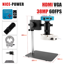 Electronic Eyepiece Lens Microscope-Camera C-Mount 60FPS Digital HDMI Led-Light Video