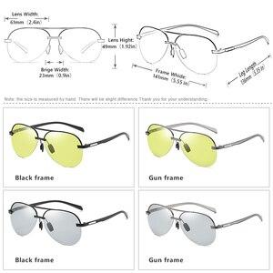 Image 4 - 항공 선글라스 남자 편광 된 브랜드 데이 나이트 비전 운전 안경 여성 photochromic sun glasses 남성 uv400 oculos de sol