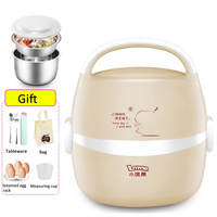 220V Multifunction Electric Heating Lunch Box Double Stainless Steel Liner Rice Cooker Heated Thermal Food Containers