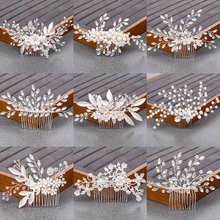 Silver Rhinestone Flower Hair Comb Hair Accessories Women Head Jewelry Wedding Hair Accessories Bridal Hair Comb Headband недорого