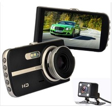 цена на Car DVR Camera Dual Lens IPS 170 Degree Wide Angle 4 Inch Full HD Video Registrator Night Vision Car Recorder DVR Dash Cam 5