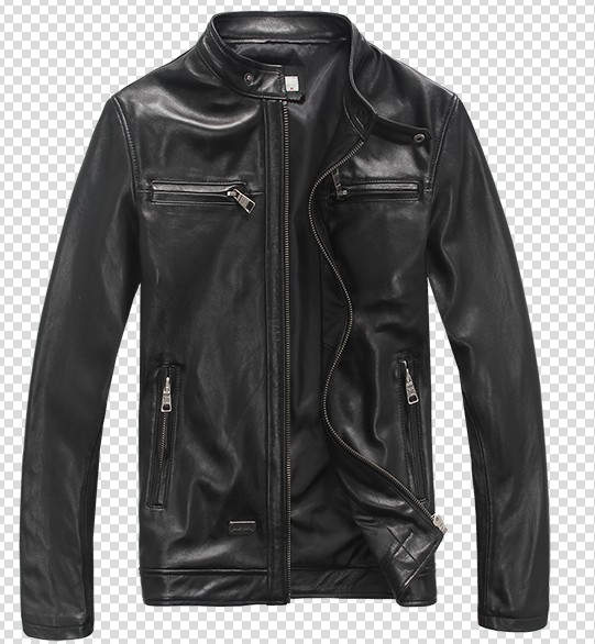 Men's Genuine Leather Jacket, Short Slim Fit
