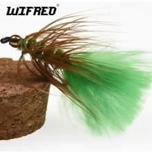 Wifreo 6 adet #8 Chartreuse yeşil pirinç boncuk kafa flama Fly alabalık sinek balıkçılık