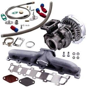 Image 3 - Manifold+Turbo charger for Nissan Safari Patrol TD42 TD42T1 GQ GU Y60 T3 T4 T04E Turbocharger .63 A/R .5A/R Internal Wastegate