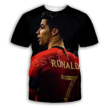 Tessffel Cristiano Ronaldo Athletes Fitness Streetwear Harajuku Tracksuit New Fashion Swag 3DPrint Unisex T-shirts Men/Women s-3 2