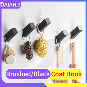 Robe Hook Black Stainless Steel Bathroom Hooks for Towels Bag Key Clothes Coat Hooks Wall Mounted Decorative Bathroom Hardware robe hook wall mounted bathroom towel hook black aluminum vintage coat hanger hooks single decorative bag key hat clothes rack
