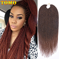 Длинные Синтетические Сенегальские плетеные волосы TOMO, 16, 20, 30 нитей, Омбре, маленький кротошек, удлинение кос для черных женщин