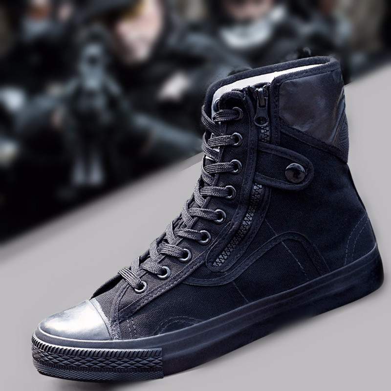 2020 Army Fashion Black Breathable Safety Shoes Work Protective Shoes Anti-skid Wear Training Boots High Zapatos Hombre G01-42
