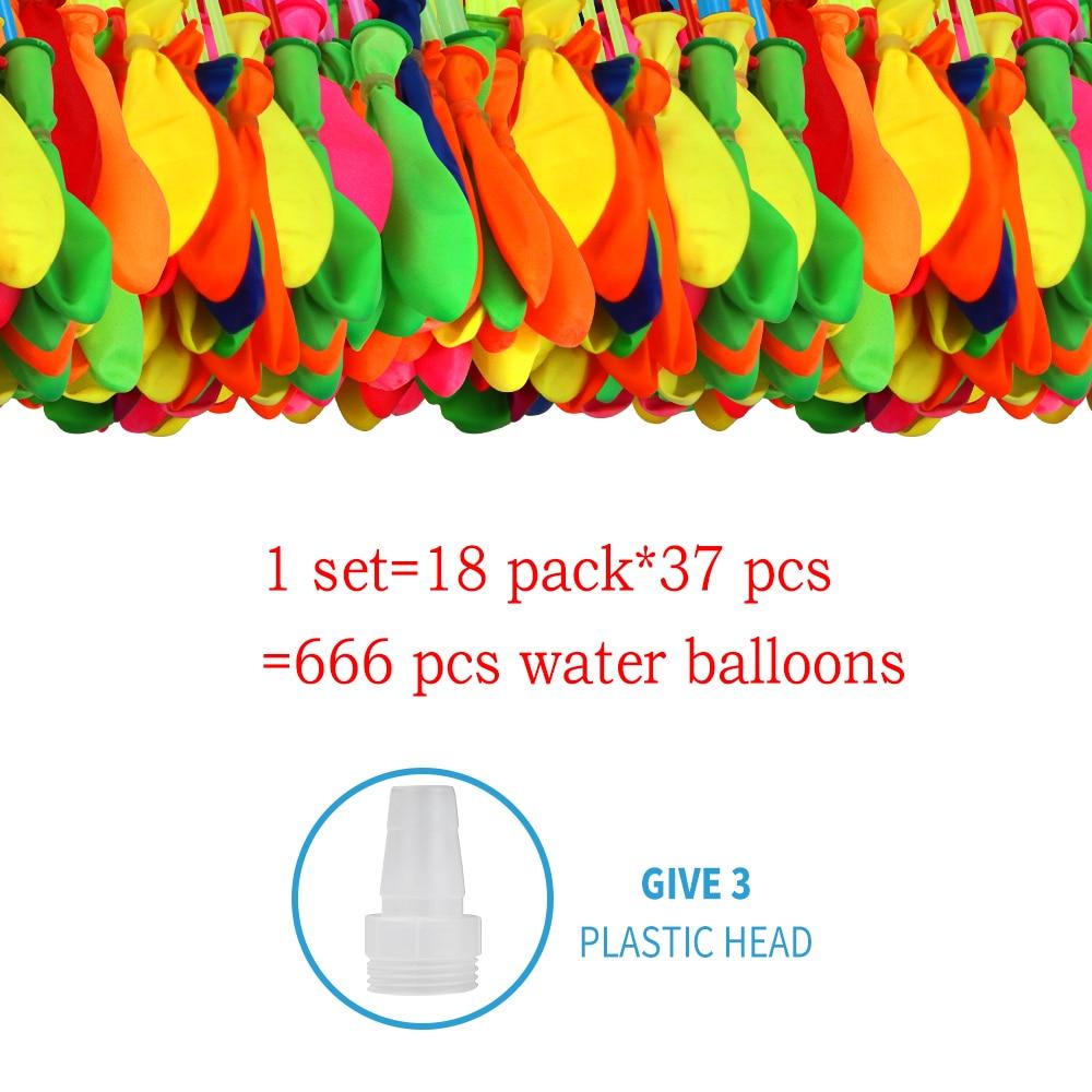 666 Pcs Water Bombs Balloon Magic Balloon Children Water War Game Supplies Kids Summer Outdoor Party Toy