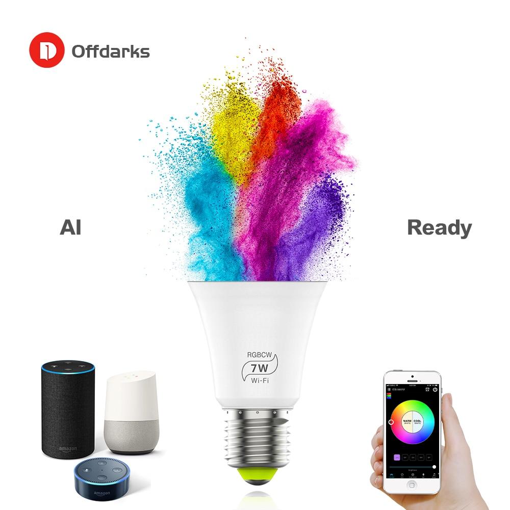 Smart LED  Light Bulb WIFI Mobile App Control E27 Voice Control 2.4GHZ Home Decor Party Restaurant