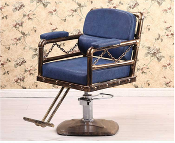 Iron Antique barber chair hairdresser chair hairdresser chair hairdresser chair barber shop chair