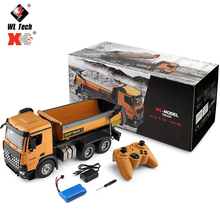 Wltoys 14600 1:14 RC Truck 10km/h Speed Radio Controlled Electric RC Crawler Dirt Dump Car Engineer Vehicle Transporter Models