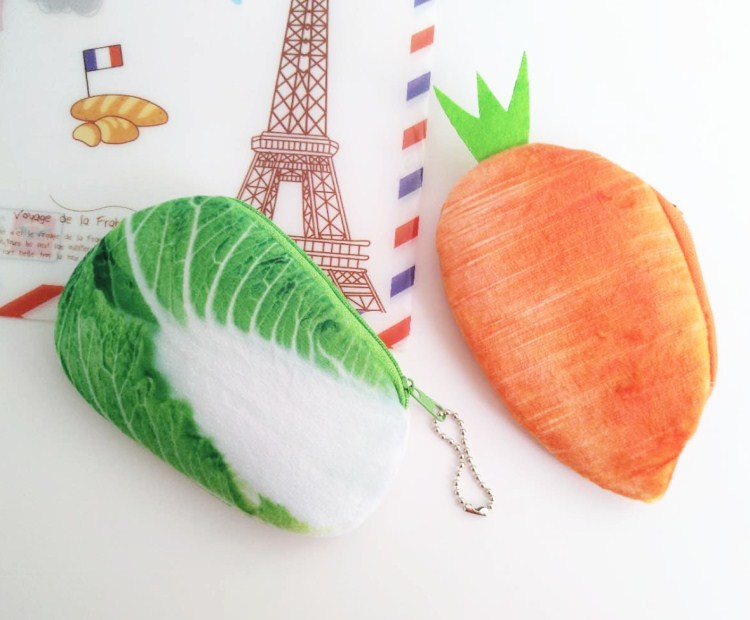 Recommended & Vegetable Purse Pork Series Plush Creative Chinese Cabbage Carrot Modeling Girl'S Coins Earphone Bag