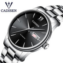 CADISEN Brand Men Mechanical Watch Automatic NH36 Role Date Fashione luxury Waterproof Clock Male Reloj Hombre Relogio Masculino