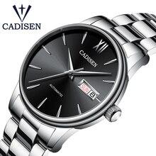 CADISEN מותג גברים מכאני שעון אוטומטי NH36 תפקיד תאריך Fashione יוקרה עמיד למים שעון זכר Reloj Hombre Relogio Masculino