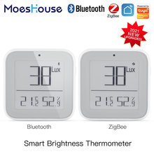 MoesHouse ZigBee Bluetooth Smart Brightness Thermometer Sensor Light Temperature Humidity Detector Tuya Smart App Alexa Control