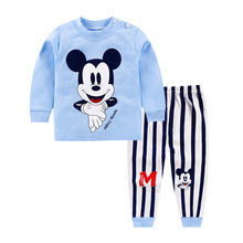 Baby Girls Clothes Boys Suit Winter Warm Newborn Baby Clothes Set Cartoon Long Sleeve Top+Pants 2PCS Kids Clothes Sets Bebes(China)