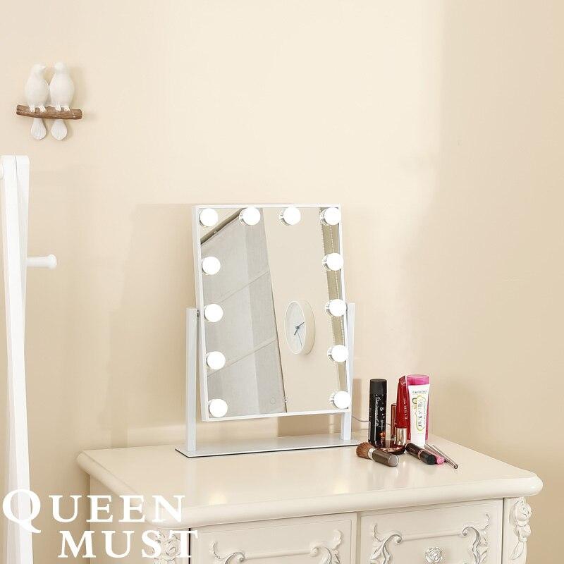 Estilo hollywood frameless iluminado espelho de maquiagem