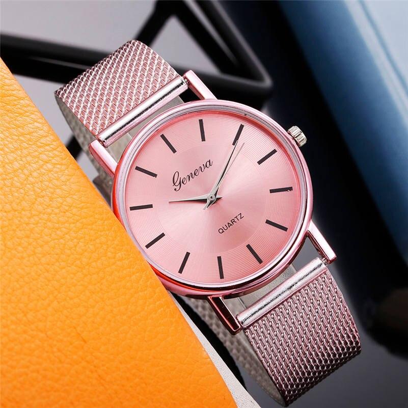 2019 Relogio Femino Hot Watch Women Watches Quartz Watch Woman's High-end Glass No Waterproof Distinguished Watches Reloj Mujer
