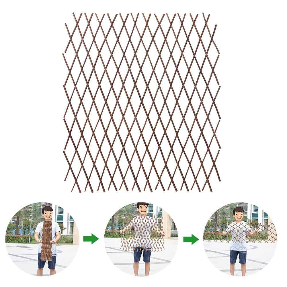 Two Sizes Wooden Fence Expandable Garden Fences Durable Retractable Plant Climbing Frame Trellis Home Flower Decoration Stand
