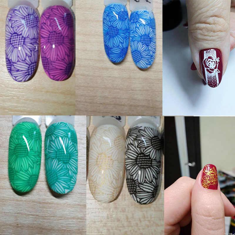 Gelfavor Stamping Gel Cat Kuku Perlu Stamp Piring Semi Permanen UV LED Lampu Manikur Gel Varnish untuk Stamping Kuku Gel bahasa Polandia