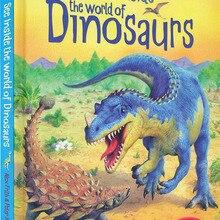 Books 3d-Usborne World-Of-Dinosaurs Book-Education Flap Learning-Gift Reading English